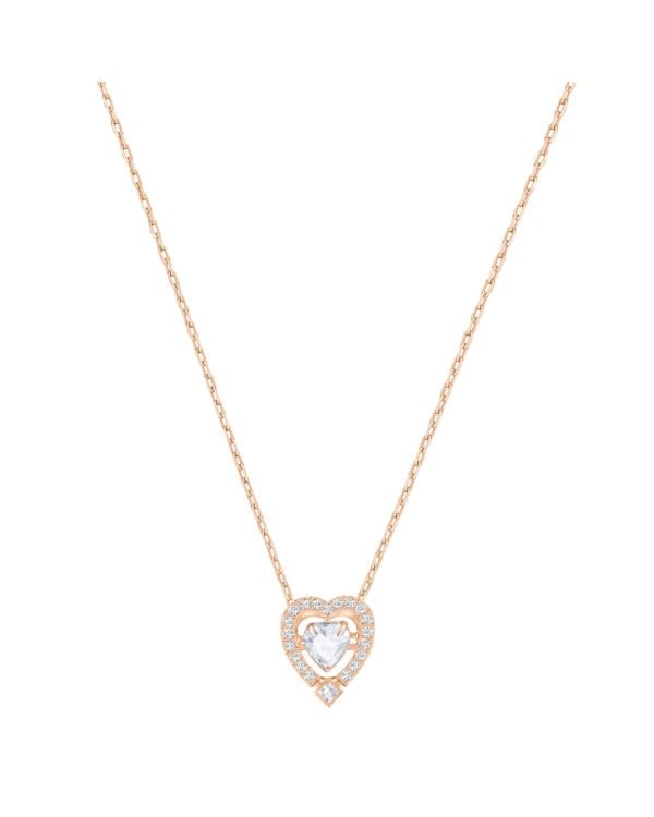 Sparkling Dance Heart Gold Tone Necklace 3