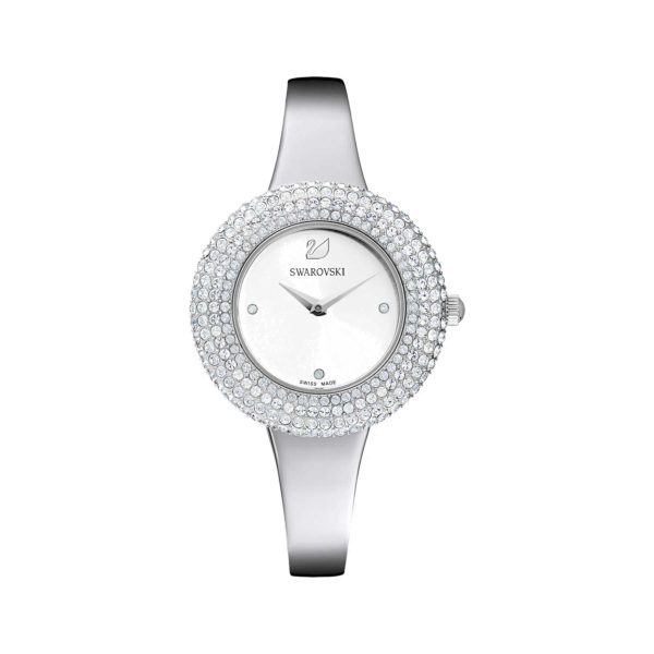 Crystal Rose Silver Watch 3
