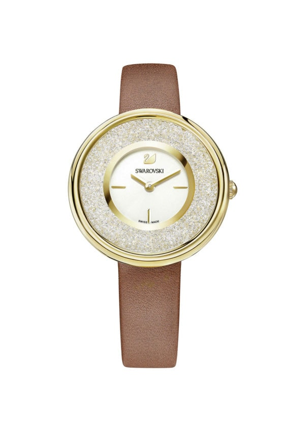 Crystalline Pure Gold Tone Watch 3